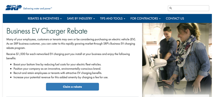 Business EV Charger Rebate