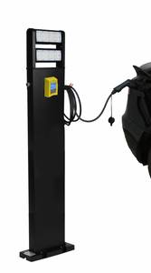 PayEnergy Level 2 EV charger Stand 60 inch with Credit card payment system