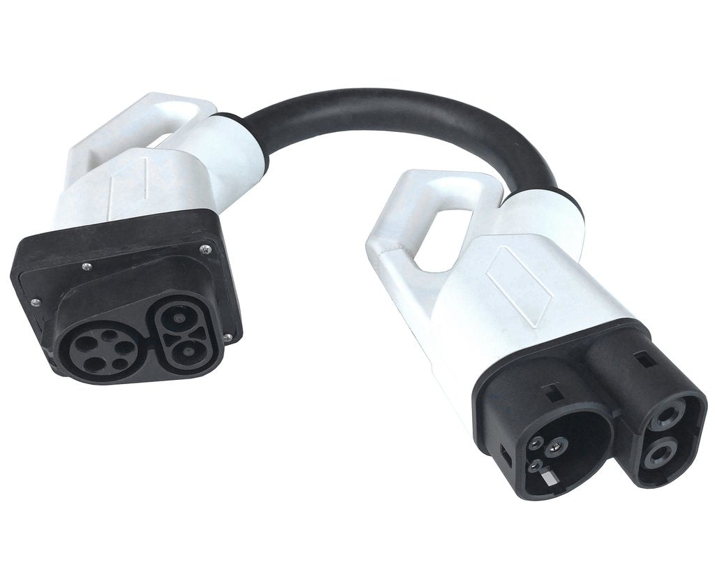 US to European CCS Combo 1 to CCS Combo 2 EV Quick Charger Adapter