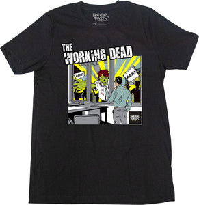 Underpaid Clothing - The Working Dead -Front View- Black
