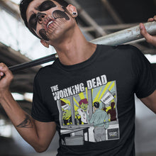 Underpaid Clothing - The Working Dead - Design Up close - Black Lifestyle shot