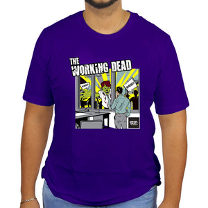 Underpaid Clothing - The Working Dead -Front View- Purple Model