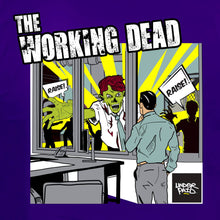 Underpaid Clothing - The Working Dead - Design Up close - Purple