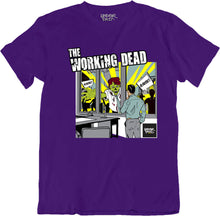 Underpaid Clothing - The Working Dead -Front View- Purple