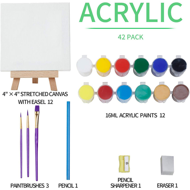 42-Piece Acrylic Painting Set