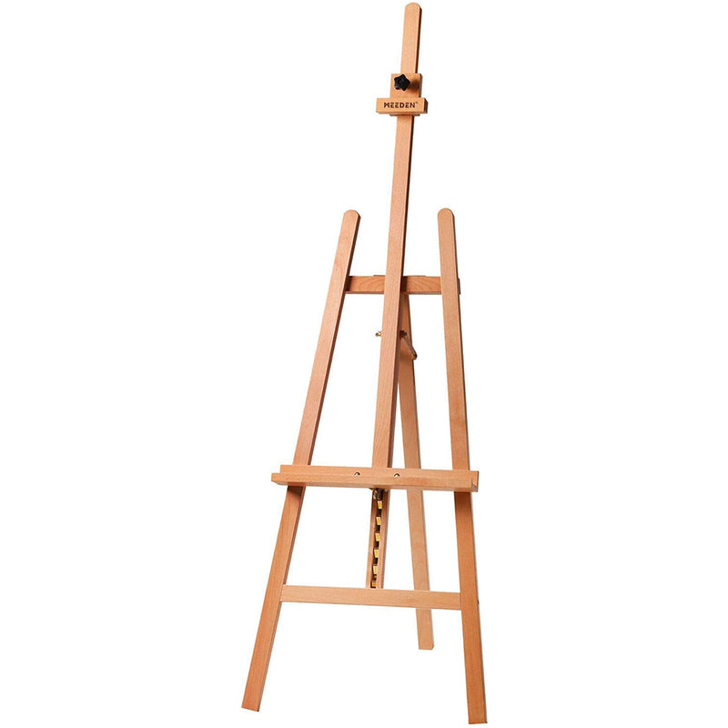 Basic Lyre Studio Easel, Wood Artist Easel for Painting