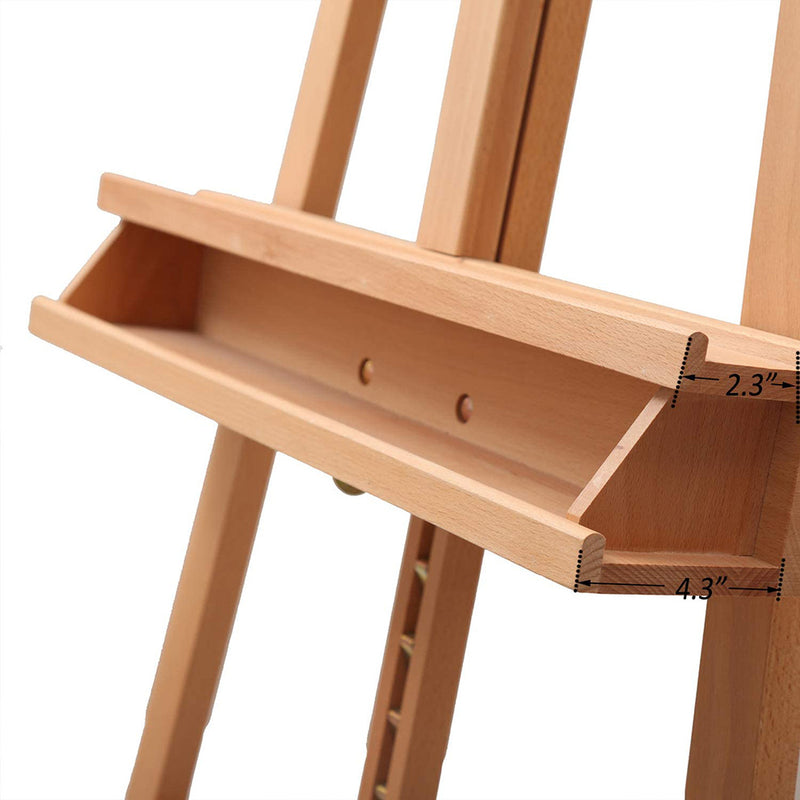 Large Painters Easel Adjustable Solid Beech Wood Artist Easel, Studio Easel