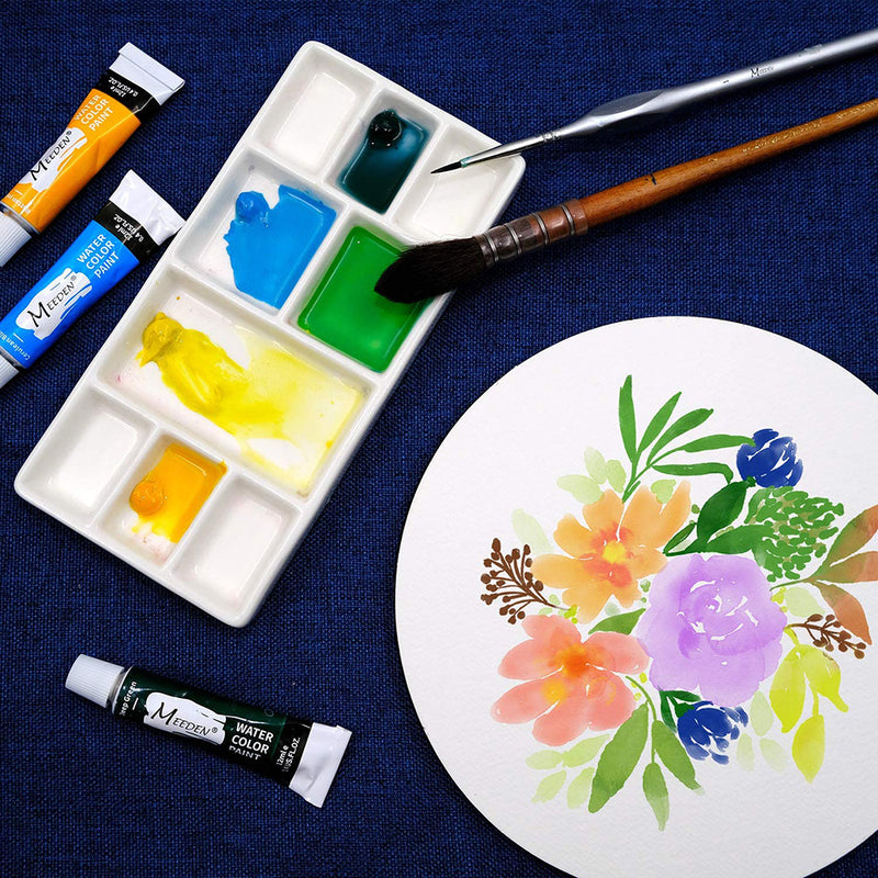 9-Well News Ceramic Rectangle Artist Paint Palette