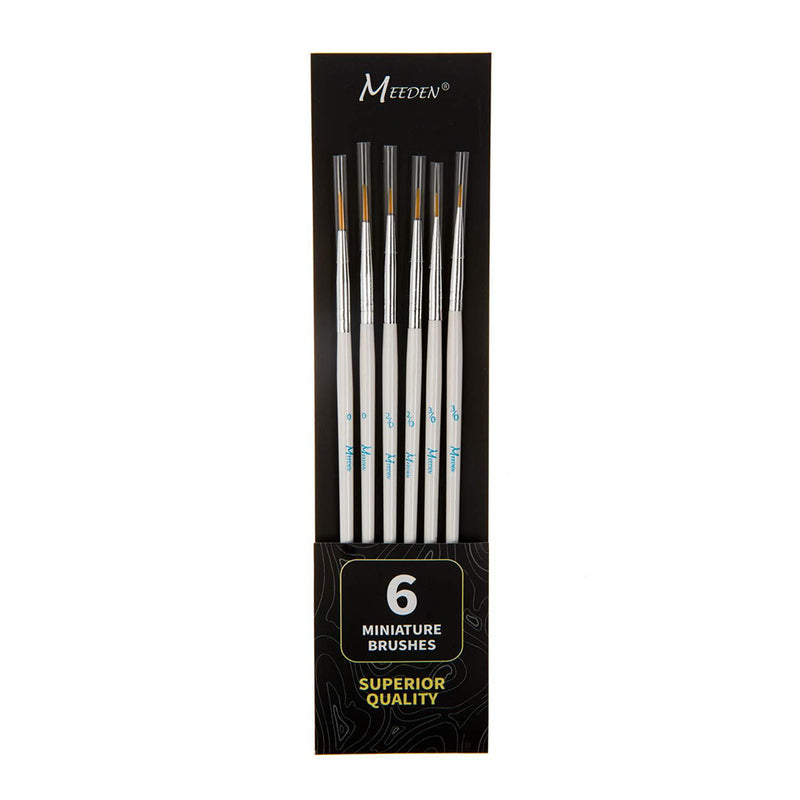Detail Paint Brush Set - 6 Miniature Art Brushes
