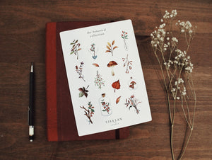 Botanical watercolour stickers