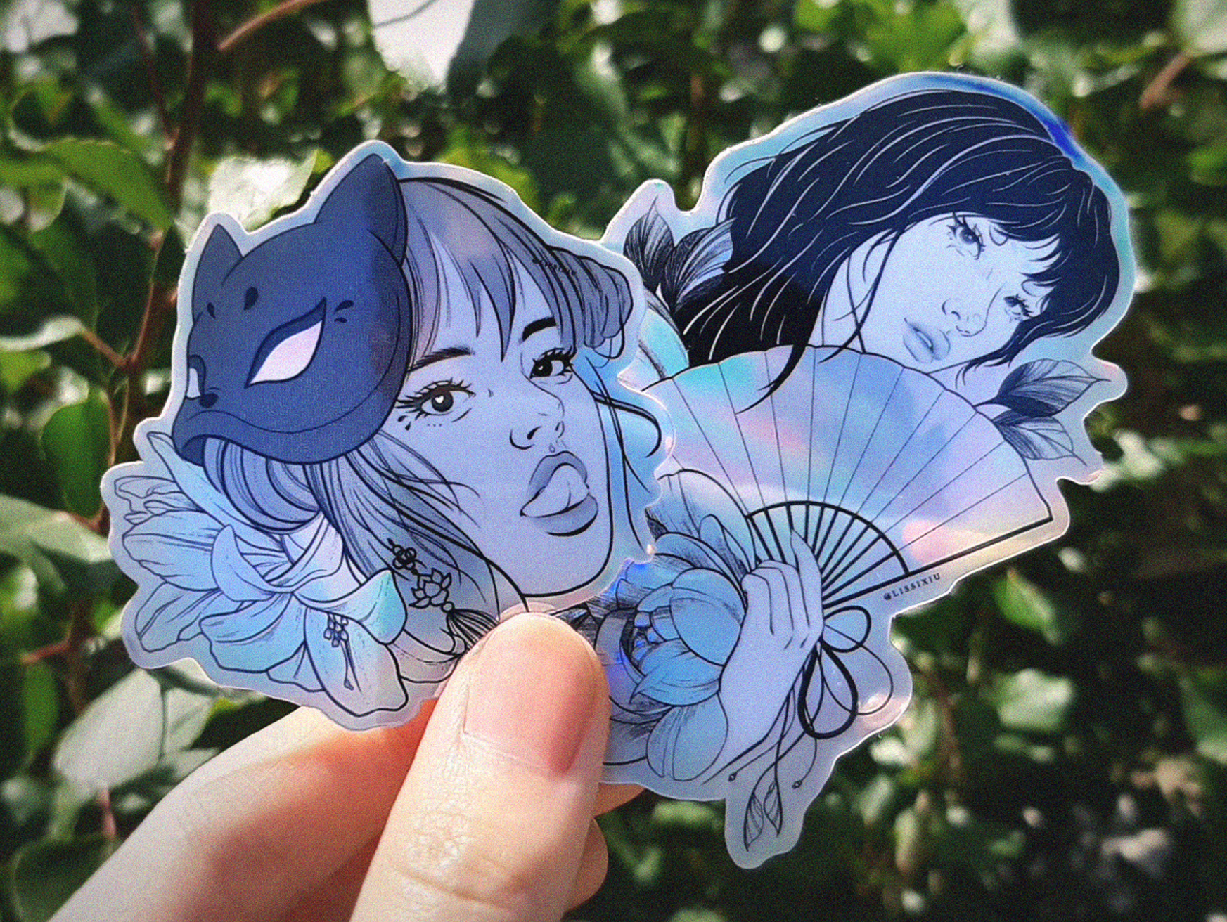 Holographic stickers