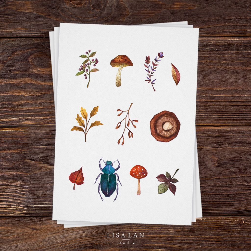 Forest Forage print