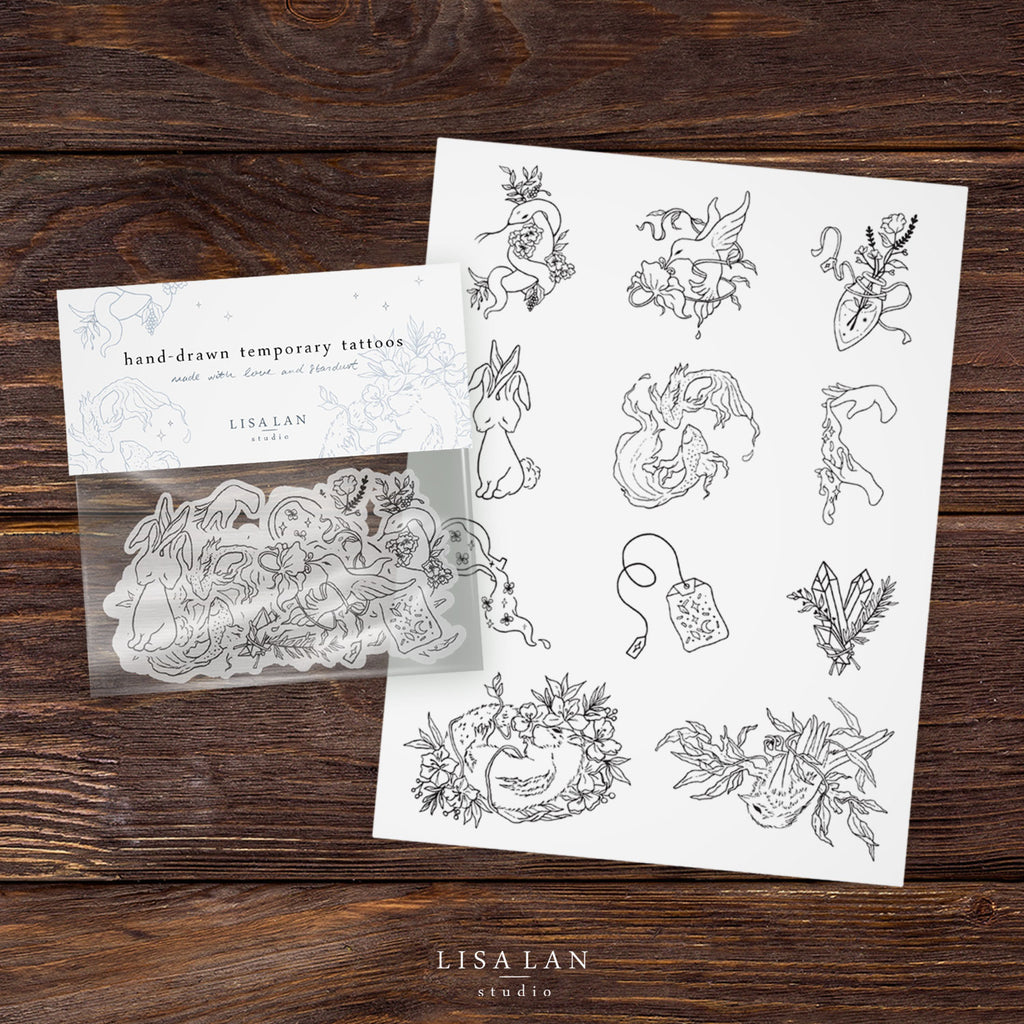 Hand-drawn Temporary Tattoos