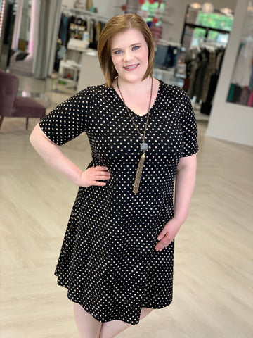ABSTRACT DOT SHIRTDRESS
