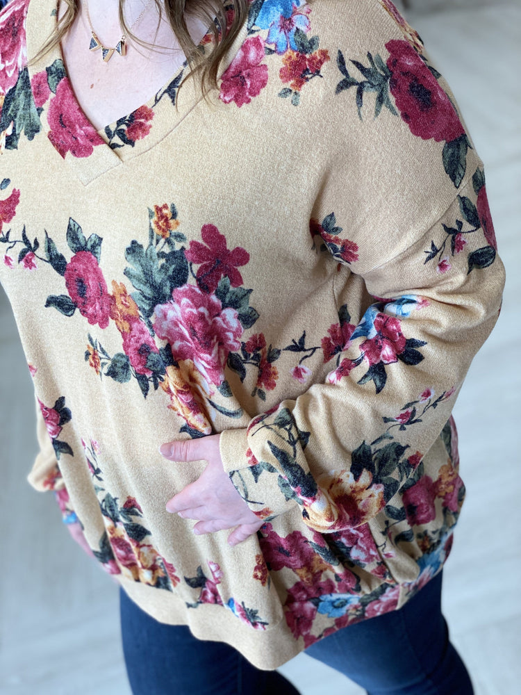 Load image into Gallery viewer, BLOUSON FLORAL TEE