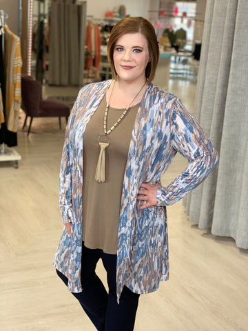 BREEZY NEUTRAL TIE DYE CARDIGAN