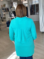 BREEZY TUNIC IN AQUA