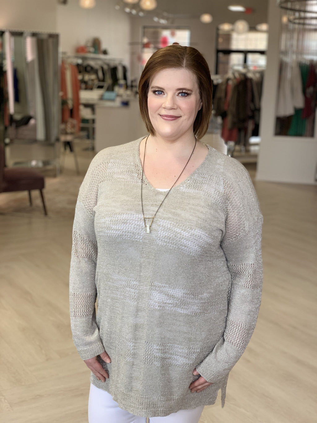CHAMPAGNE SHIMMER TUNIC