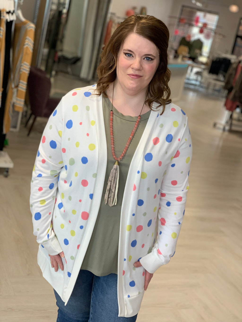 COLORFUL DOT CARDIGAN