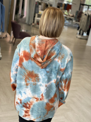 Load image into Gallery viewer, COZY CITRUS TIE DYE HOODIE