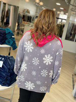 Load image into Gallery viewer, COZY SNOWFLAKE HOODIE