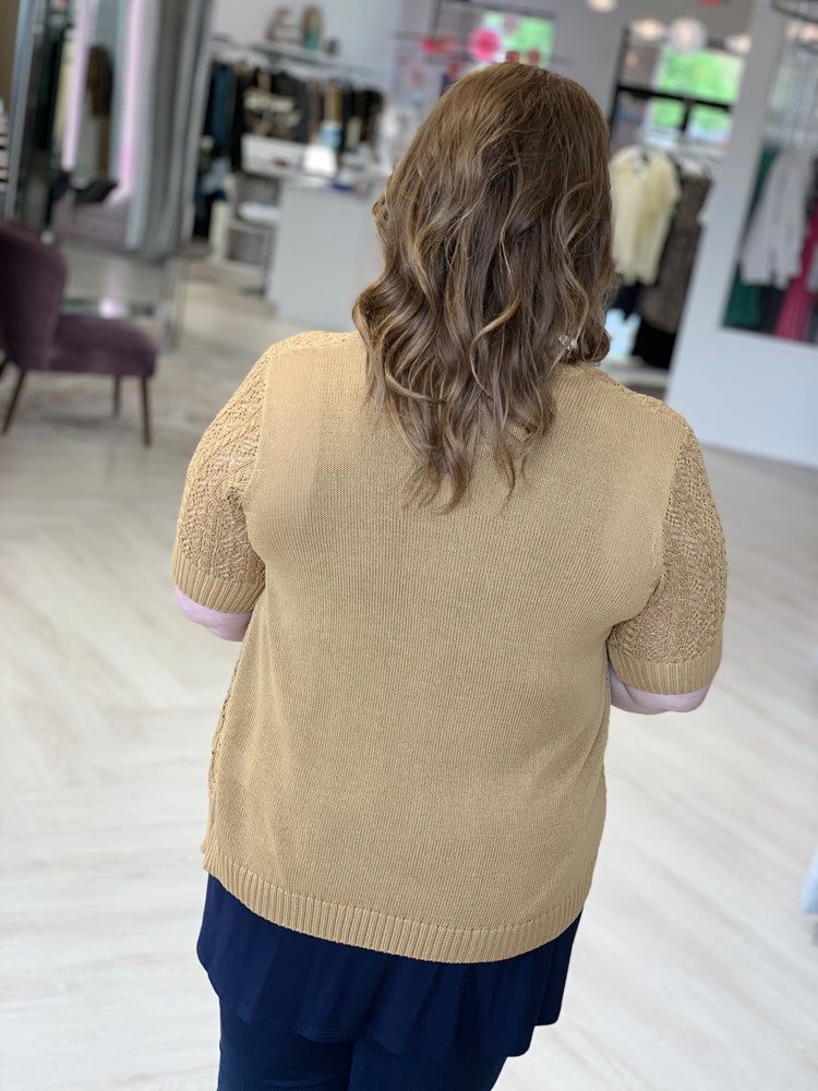 Load image into Gallery viewer, CROCHET SHORT SLEEVE CARDIGAN