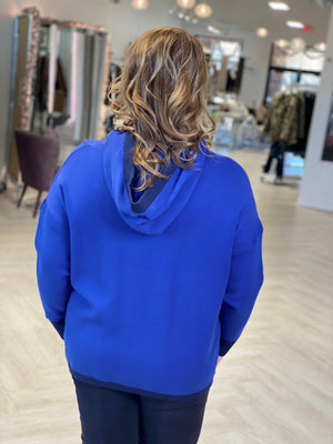 Load image into Gallery viewer, DOLMAN SLEEVE RIBBED DETAIL HOODIE