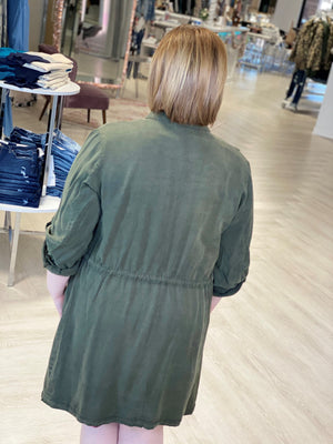 Load image into Gallery viewer, DRAPE FRONT LIGHTWEIGHT DUSTER JACKET