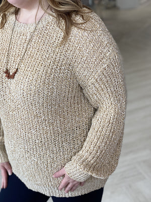 LOOSELY-KNITTED SWEATER IN CHAMPAGNE
