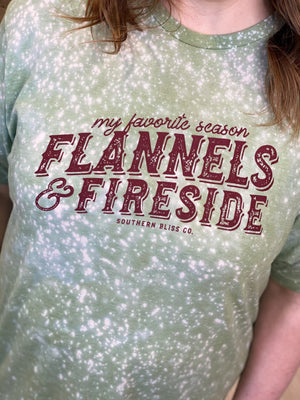 "Load image into Gallery viewer, ""MY FAVORITE SEASON FLANNELS AND FIRESIDE"" GRAPHIC TEE"