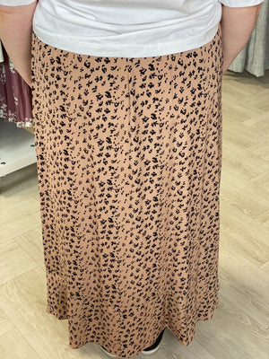 Load image into Gallery viewer, RUFFLE FRONT LEOPARD SKIRT