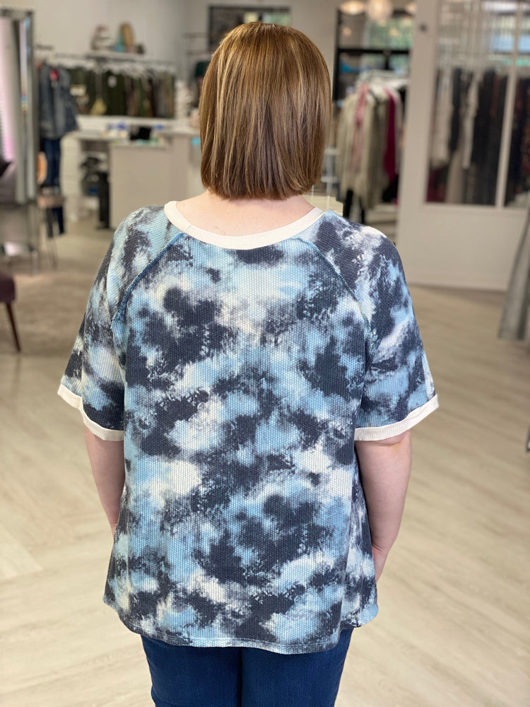 SHORT SLEEVE TIE DYE THERMAL TEE