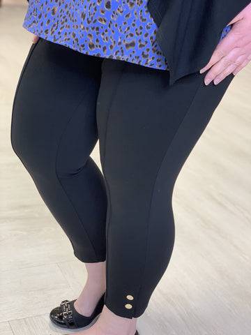 SNAP DETAIL CAPRI LEGGINGS