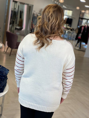 Load image into Gallery viewer, STRIPED CHENILLE SWEATER