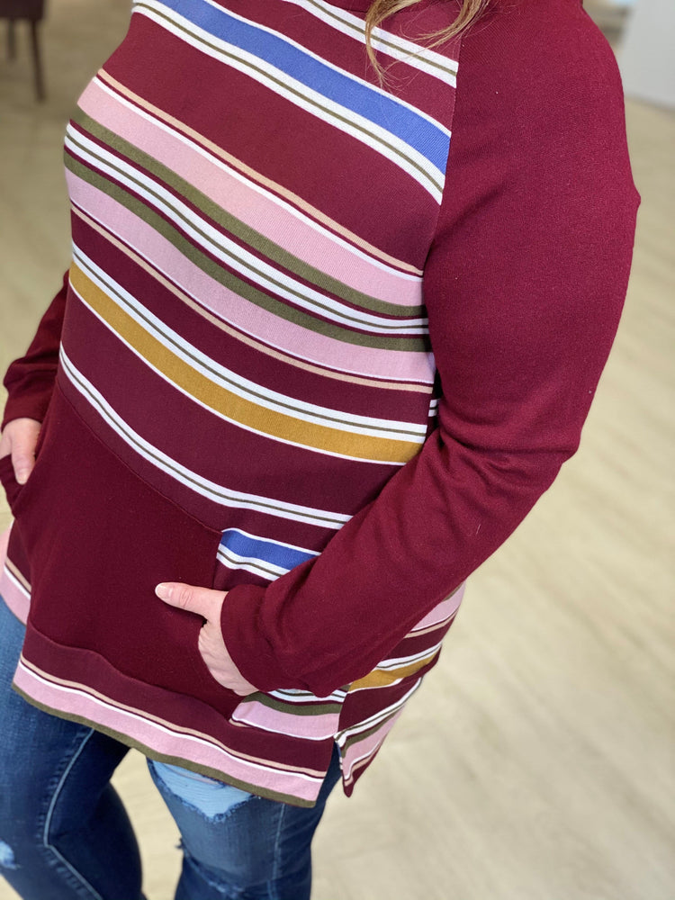 Load image into Gallery viewer, SUPER SOFT STRIPED HOODIE