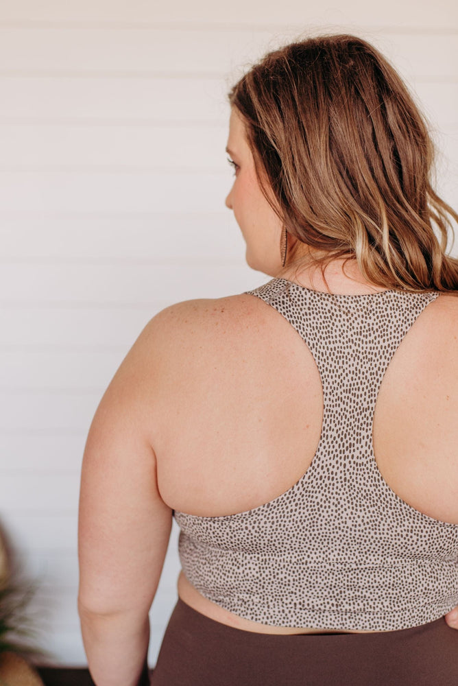 Load image into Gallery viewer, Spanx© LONGLINE MEDIUM IMPACT SPORTS BRA IN NEUTRAL WAVE