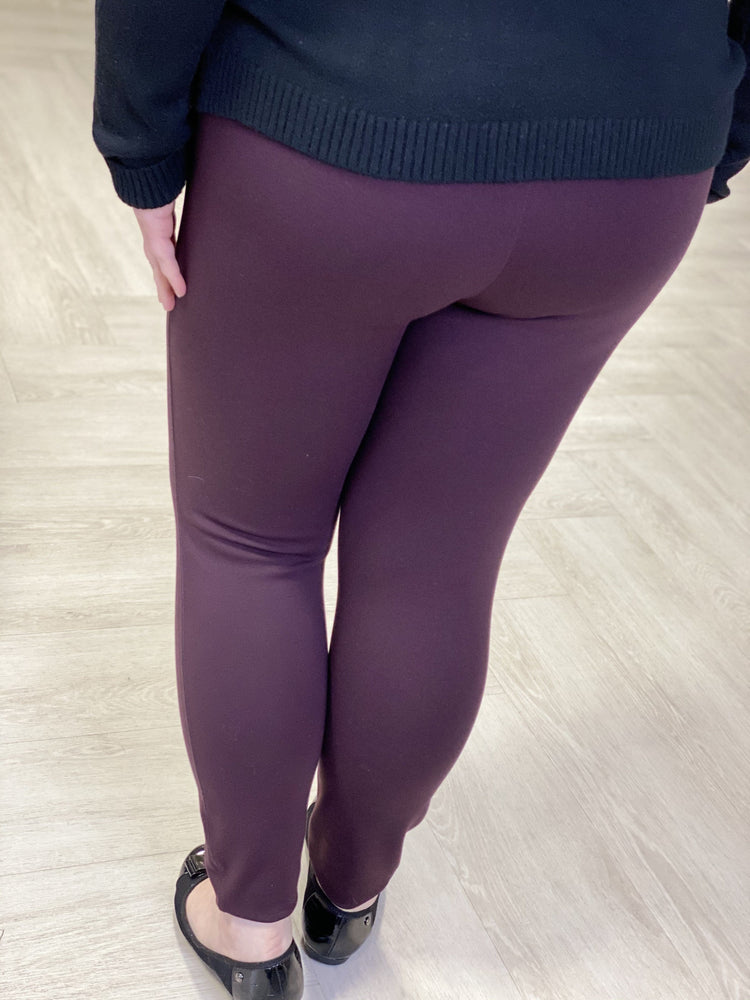 Spanx© ANKLE LENGTH PONTE LEGGING IN BRANDYWINE