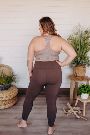 Spanx© EVERY.WEAR KNOCKOUT LEGGINGS IN BARK
