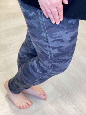 Spanx© Look at Me Now Seamless Leggings In Heather Camo