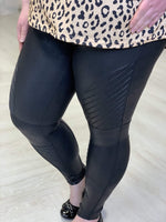 Spanx© FAUX LEATHER MOTO LEGGINGS