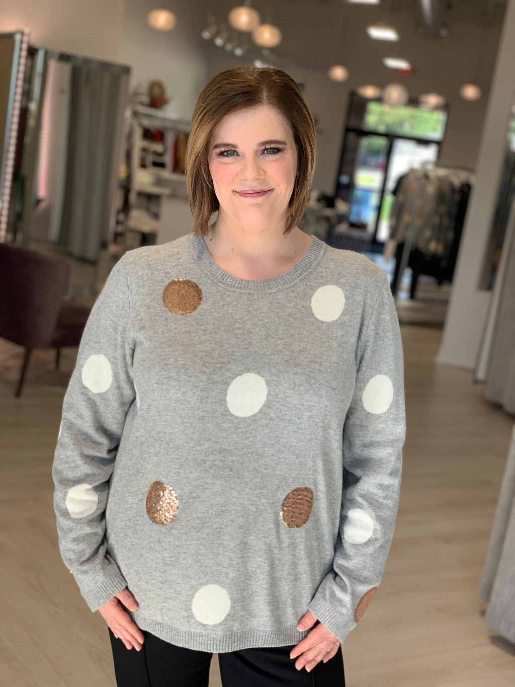 SPARKLING DOT SWEATER
