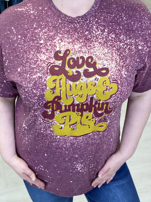"""THERE'S ALWAYS ROOM FOR LOVE HUGS AND PUMPKIN PIE"" GRAPHIC TEE"