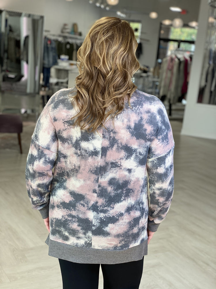 TIE DYE THERMAL TUNIC TEE
