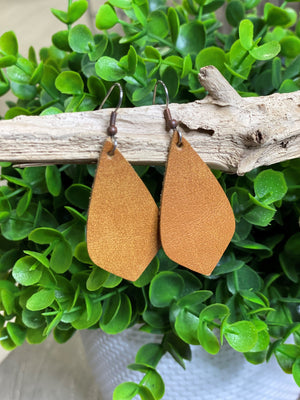 LARGE LEATHER EARRINGS