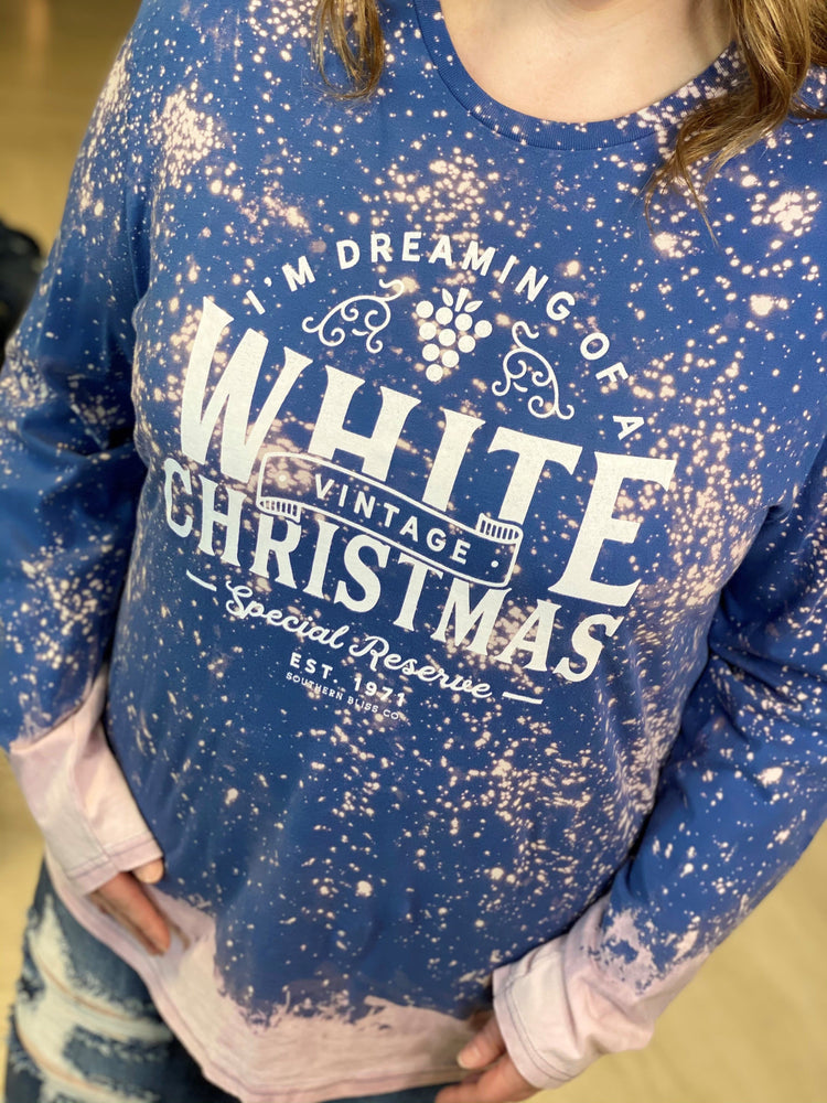 """I'M DREAMING OF A WHITE CHRISTMAS"" GRAPHIC LONG SLEEVE TEE"