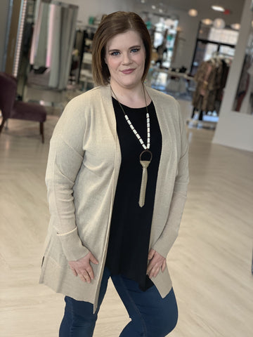 BREEZY OPEN FRONT DUSTER CARDIGAN