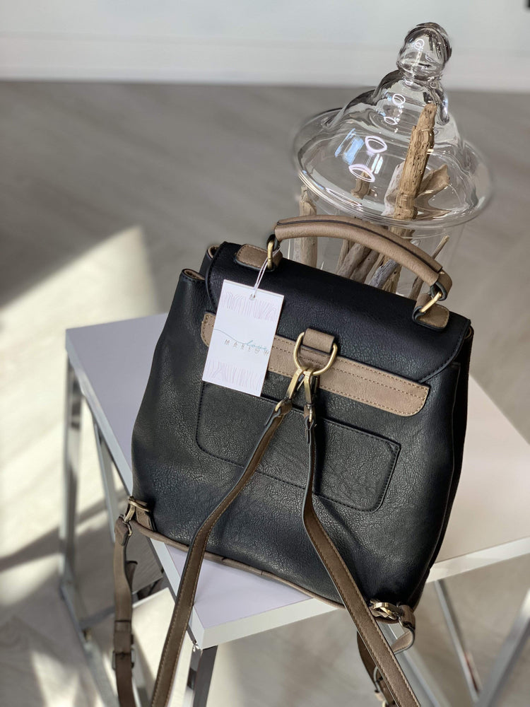 Load image into Gallery viewer, FAUX LEATHER BACKPACK
