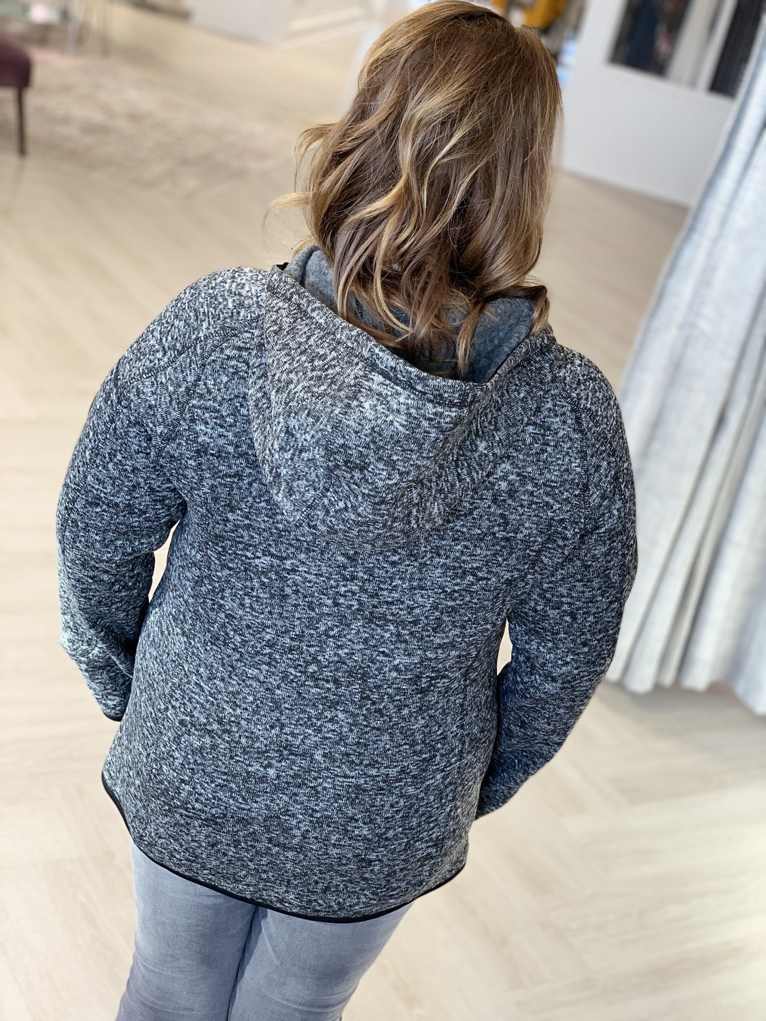 FLEECE-LINED HOODED SWEATSHIRT