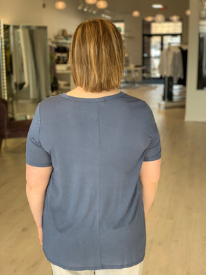 Load image into Gallery viewer, JERSEY SHORT SLEEVE V-NECK TEE
