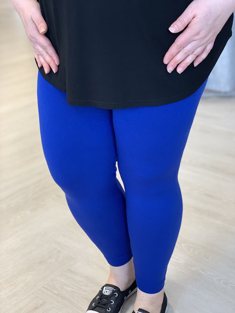 SOLID FLEECE LINED LEGGINGS